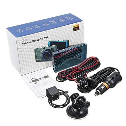 Bellaluee Cámara Car Dvr 4 Pulgadas 1080P Lente Dual 170 Grados Dash Auto Vehículo Grabadora de Video G-Sensor Night Car Dvr