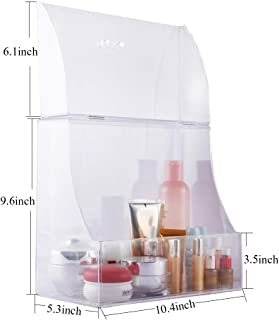 Zhiai Acrylic Cosmetics Storage Box Storage Box Display Cabinet Front Cover - Cosmetics Storage for Makeup, Brush, Perfume, Skin Care