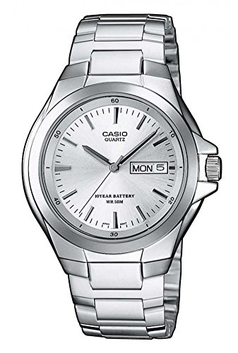 Casio Herren Analog Quarz Smart Watch Armbanduhr mit Edelstahl Armband MTP-1228D-7AVEF