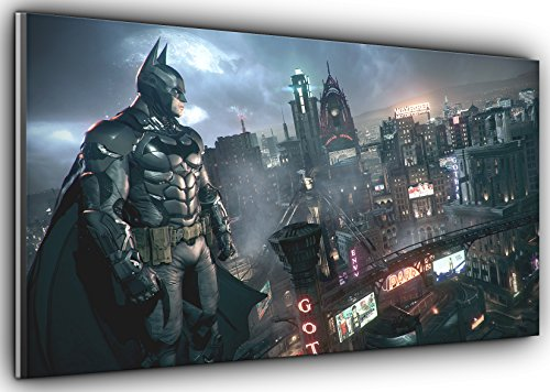 Von Canvas35den City zu schützen Batman Dark Knight Panorama Kunstdruck Bild gerahmt XXL 139,7x 61cm über 4,5breit x 2ft Hoch bereit zu hängen, Leinwand, Mehrfarbig, 127x 50x 4cm
