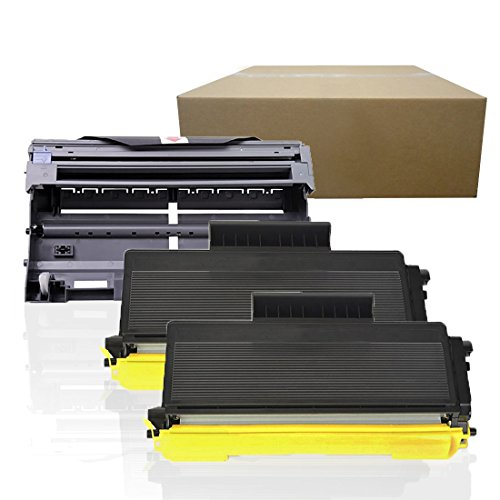 Inktoneram Compatible Toner Cartridges & Drum Replacement for Brother TN580 TN550 DR520 DR-520 TN-580 TN-550 MFC-8460N MFC-8660DN MFC-8670DN MFC-8860DN MFC-8860N MFC-8870WN DCP-8060 (Drum,2-Toner,3PK)