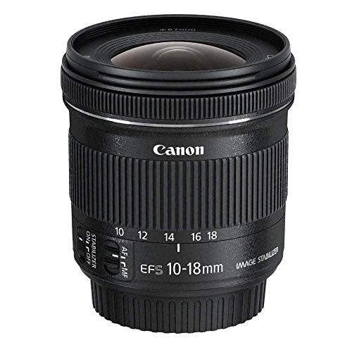 Canon Zoomobjektiv EF-S 10-18mm F4.5-5.6 IS STM Ultra Weitwinkel für EOS (67mm Filtergewinde, Bildstabilisator), schwarz