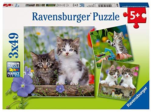 Ravensburger Kinderpuzzle 08046 - Süße Samtpfötchen - 3 x 49 Teile