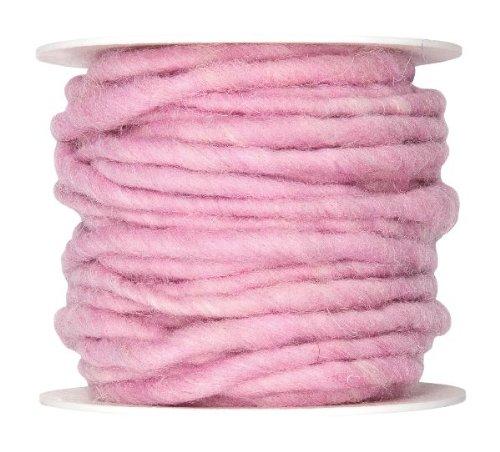 Wollschnur mit Jute rosa 5mm 10m