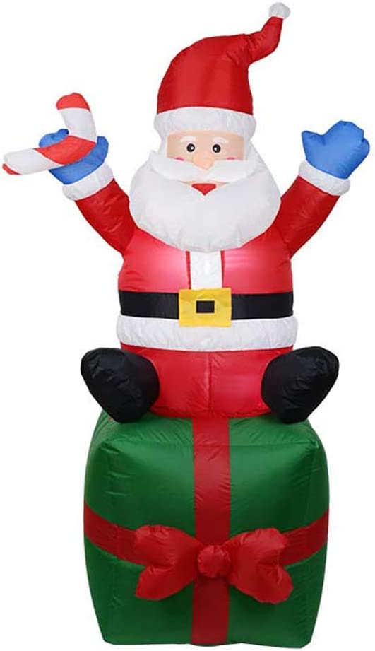 ZQQ Lighted Christmas Oklahoma City Mall Santa Translated Claus Ca Inflatable Decorations 6FT
