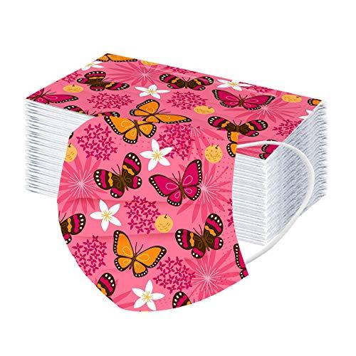 10 – 100 vendas para niños con diseño de mariposa, impresión de arcoíris