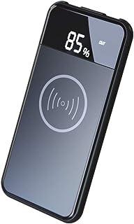 Bateria Externa Wireless 10000mAh Cargador Inalámbrico Cargador Móvil Portáti Power Bank con Pantalla LED Digital y Dual USB Compatible iPhone XR/XS/X/8/8 Plus y Todos Móviles con QI, Black