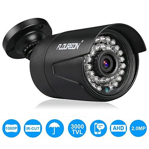 FLOUREON Cavo BNC Cavi DC di Alimentazione Video per Videosorveglianza Telecamera DVR Kit (3000TVL Camera)