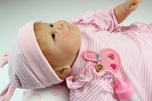 iCradle Muñecas Reborn Bebé Realista Silicona Suave de Vinilo 15 Pulgadas 38cm Lifelike Bebé Reborn Niña Nacido Regalo de Juguete