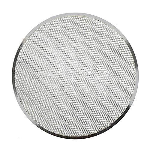 Pantalla de pizza, malla sin costuras para horno de pizza, bandeja de aluminio para hornear utensilios de cocina para horno accesorios para hornear malla antiadherente para pizza (tamaño: 12 pulgadas)