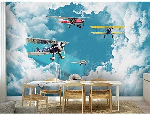 ZJfong Frankrijk Parijs Eiffeltoren fotobehang Hd Wall Paper Art Decor 3D Fotobehang papier Peint Pour Les Murs 3 D Zwart Wit 300 x 200 cm.