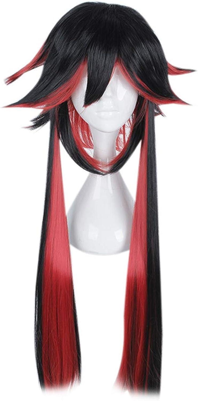 Igspfbjn Spezielle äußere Form, die langes Haar für Mischfarbe-Perücke-Mafia-Reihen-Perücke Cosplay Perücke mischt (Farbe   schwarz and rot Farbe) B07L1PW3LK Öffnen Sie das Interesse und die Innovation Ihres Kindes, aber auc