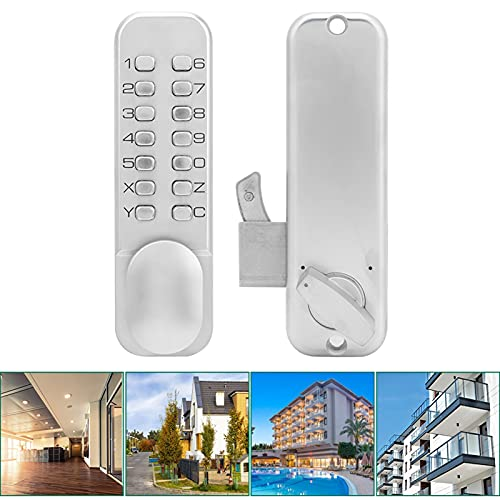 Keypad Door Lock, Push Button Abrasion Resistance Keyless Entry Good Durability Mechanical Door Lock Easy Use for Home