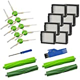 Mochenli Replacement Accessory Kit for iRobot Roomba i7 i7+/i7 Plus E5 E6 Vacuum Cleaner.Replacement Parts Set (2 Set of Multi-Surface Rubber Brushes,8 Side Brushes,8 Filters,2 Tools).