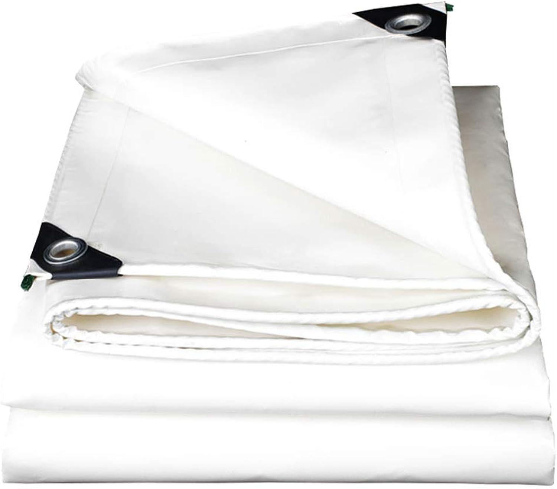 Tarp Heavy Duty Tarpaulin White 520g m2 Tarp Ground Sheet Cover  100% Waterproof, UV Resistant,Moisture Proof with Grommets,Thickness 0.45mm