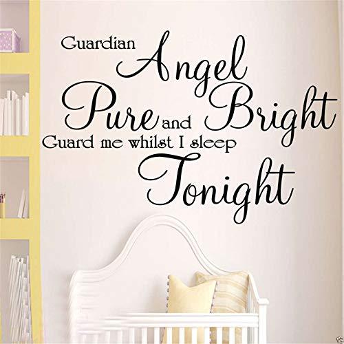 Wandtattoo Kinderzimmer Wandtattoo Wohnzimmer Schutzengel Zitat Home Decor für Kinderzimmer Kinderzimmer Dekoration