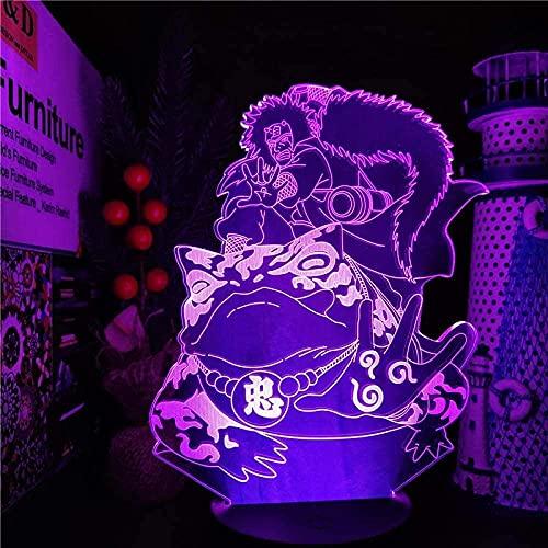 MENG 3D Illusion Anime Figura Lámpara Sapo Emportal Viene para Dormitorio Decoración Noche Luz Niños Cumpleaños Cumpleaños Habitación Led Led Manga,Control Remoto