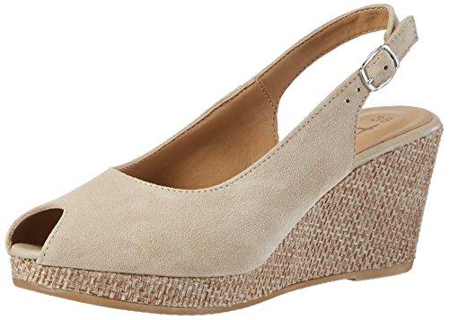 Tamaris Damen 29303 Offene Sandalen mit Keilabsatz, Beige Nature Rope 381, 40 EU