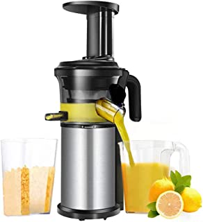 Vertical Slow Juicer, Stainless Steel Masticating Auger Juicer Easy to Clean with Reversal Function, for Vegetables and Fruits 220V