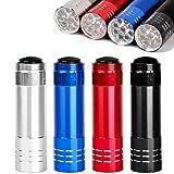 PROLOSO 16 Pcs Aluminum Flashlights with Lanyard Portable Handheld LED Flashlight Bulk Toys Kids Camping Hiking Party Favors