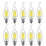 Lampadina LED E14 Candela, MENTA Lampadina Filamento LED E14 4W equivalente a 40 W, Lampad...