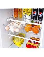 HapiLeap Organizador de frigorífico para huevos, cajón extraíble para frigorífico, organizador de almacenamiento (2 unidades)