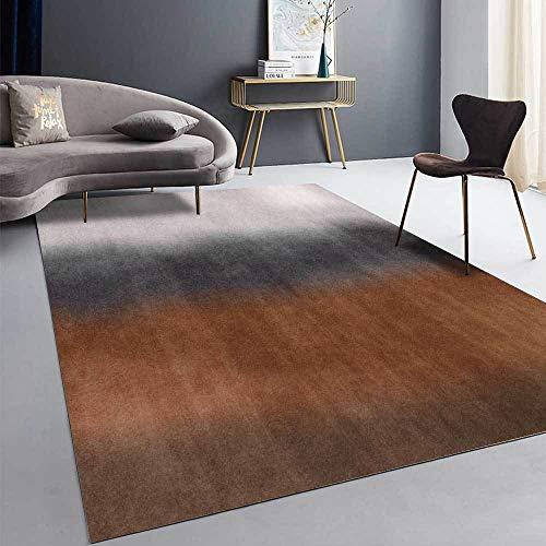 La alfombras alfombras habitacion Matrimonio Alfombra de decoración de Sala de Estar de diseño de Tinta degradada Gris Negro marrón Alfombra de habitacion Alfombra Infantil niño 200*280cm
