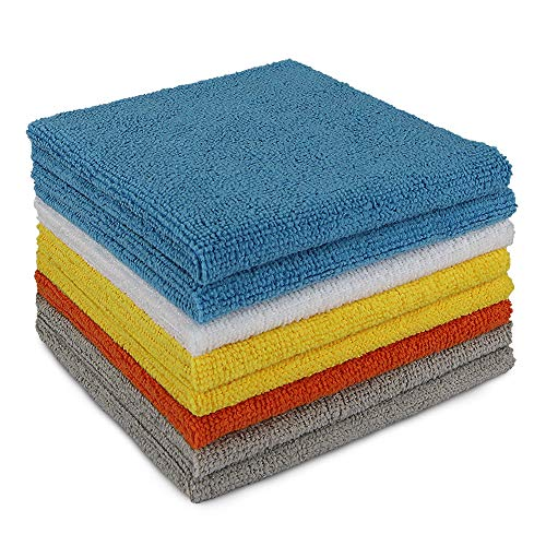 AIDEA Microfiber Cleaning Cloths, Cleaning Cloth Drying Towel, All-Purpose Softer Highly Absorbent, Lint Free, Streak Free Wash Cloth for House, Kitchen, Car, Window, Gifts-8PK (12in.x 12in.)