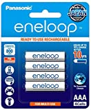 Panasonic eneloop AAA batteries can be recharged up to 2100 times [Battery life based on testing method established by IEC 61951-2 2011 (7.5.1.3)]. eneloop AAA batteries are 800mAh type, 750mAh min, Ni-Mh pre-charged rechargeable batteries. Rechargea...