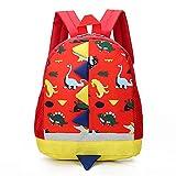 Zaino per bambini BETOY Zainetto Asilo Infanzia Dinosauro Animal Scuola borsa per Bambini Carino Primario Piccola Asilo Nido PreSchool Ragazzi o Ragazze(rosso)