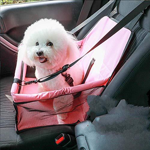 Pet Car Seat auto zitkussen, draagbare deken, roze, waterdichte tas, waterdicht, robuust en ademend, geschikt voor honden, katten, puppen, vrachtwagens, SUV's