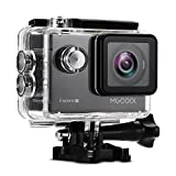 Action Camera Videocámara Deportiva 4k MGCOOL Wifi Sony 20MP 1080p@60fps Waterproof 30M-8 accesorios-Negro