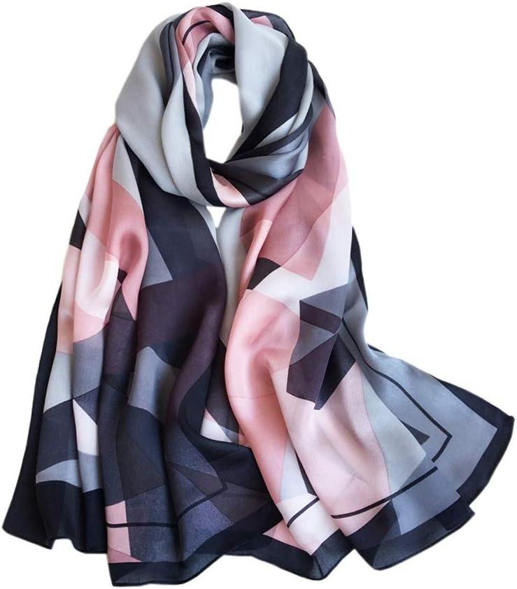 GYZCZX Pure Mulberry Silk Scarf Spring and Summer Long Scarf Silk Shawl Women Silk Scarf