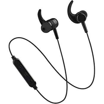pTron BassFest Stereo in-Ear Wireless Bluetooth Headphones with Mic - (Black)