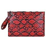 Bolsos Mujer Serpentine Bolso De Mano para Mujer Bolso De Cuero para Mujer Bolso De Mano para Embrague Bolso De Mano para Mujer Serpiente Bolso Rojo