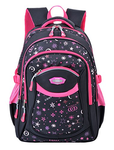 Cartable Fille, COOFIT Sac a Dos Fille Primaire en Nylon Cartable Enfant Primaire Sac Ecole Fille...