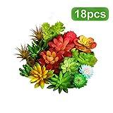 *WILLBOND 18 Peces Plantes Suculentes Artificials Plantes Realistes Assortides sense Tacar Seleccions Suculentes amb Textura Falsa per a Decoració de Paisatge Casolà Bricolatge