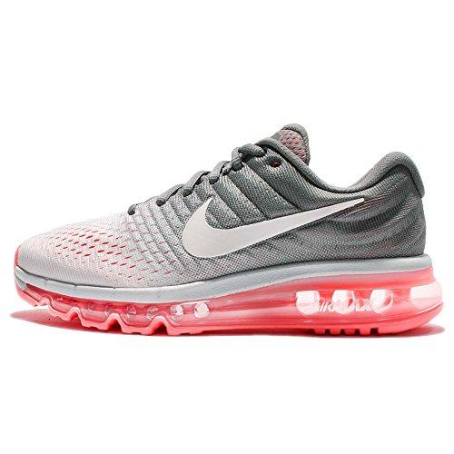 Nike Women's Air Max 2017 Running Shoe Pure Platinum/White-Cool Grey-HOT Lava 11.5