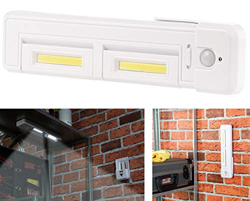 Lunartec Schrankunterbauleuchte: Schrank-Unterbau-Leuchte mit 2 COB-LEDs, 2 Watt, 80 Lumen, PIR-Sensor (Küchenleuchte)