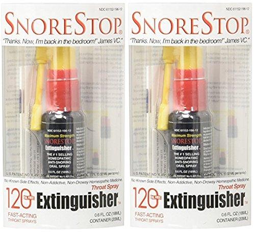 SnoreStop Extinguisher Throat Spray, 120 Sprays 0.6 oz...