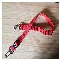 XWDDZ アップグレードされた犬のシートベルトの犬の車のシートベルト車のための調節可能なペットシートベルトのためのナイロンのペットの安全シートベルト弾性&反射 (Color : Red, Size : 50 75cm 2.5cm)
