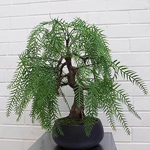 Leaf Árbol Artificial de Sauce de 50 cm, Willow Bonsái, 50cm
