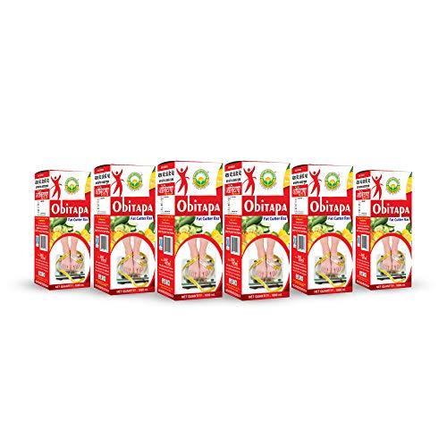 Basic Ayurveda Obitapa (Fat Cutter Ras)   Boost Immunity   Reduce extra fat   Improve digestion   Control blood sugar level (Obitapa (Fat Cutter Ras) 1000ml (pack of 6)