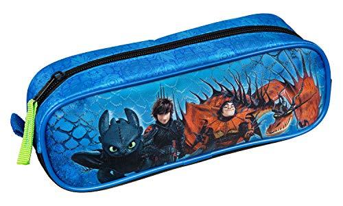 Undercover DRRA0690 - Schlamperetui, Dreamworks Dragons mit Ohnezahn und Hicks, ca. 23 x 8 x 7 cm