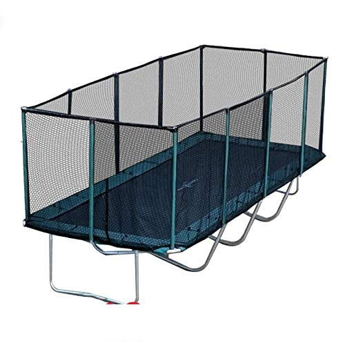 Best Trampoline USA - Galactic Xtreme Gymnastic Rectangle Trampoline with Safety Net Enclosure Heavy Duty Commercial Grade - 550 lbs Jumping Capacity Frame & Springs, 10 X 23 FT