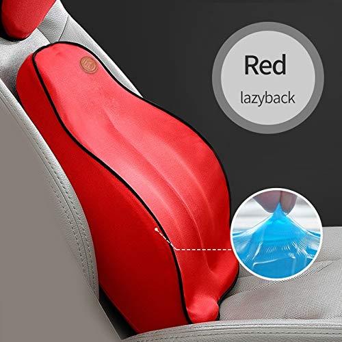 RAQ auto rugkussen auto kussen lendensteun voor bureaustoel autokussen traagschuim 3D universeel auto 1 Rood