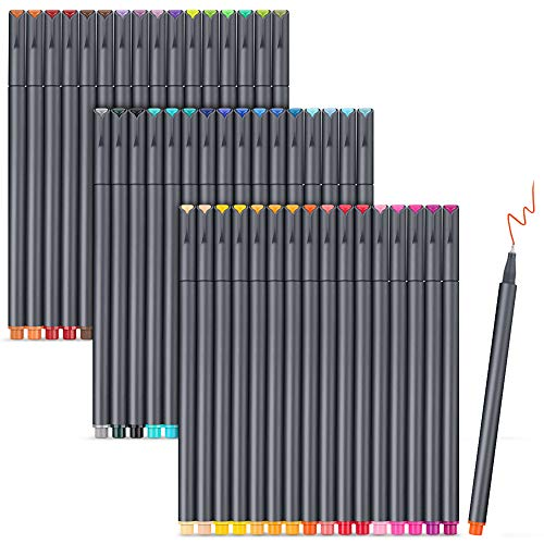 iBayam Journal Pens Planner Pens Bullet Journaling Pens Note Taking Pens Fine Point Pens Fine Tip Markers for Writing Coloring Drawing, Office School Teacher Student Pen Gift Supplies, 48 Vivid Colors