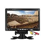 kenowa 7' Monitor De Coche retroiluminado, 800 x 480 TFT LCD HD pantalla color para cámaras de visión trasera para coche, DVD de coche, Cámara de vigilancia con Supporter, control a distancia y 2 AV