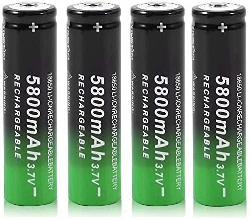 18650 Batteria Pile Ricaricabile agli Ioni di Litio, 3.7V 5800mAh Batteria Ricaricabile Grande Capacità 18650 Pile Ricaricabili per Torcia a LED, Illuminazione di Emergenza, Dispositivi Elettronici