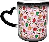 Taza cambiante de color rosa sensible al calor en el cielo tazas de café taza de cerámica regalos personalizados para los amantes de la familia amigos